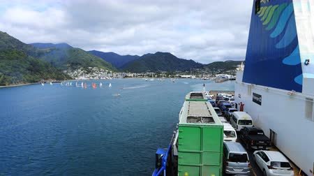 north bay : Timelapse Ferry, South to North Island, New Zealand 4K Stock Footage
