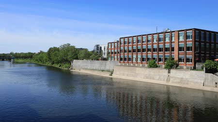 cambridge : Timelapse Cambridge, Canada scene at the Grand River 4K Stock Footage