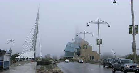 garfos : Canadian Museum for Human Rights and Provencher Bridge in Canada 4K