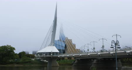 garfos : Provencher Bridge and Canadian Museum for Human Rights, Winnipeg 4K