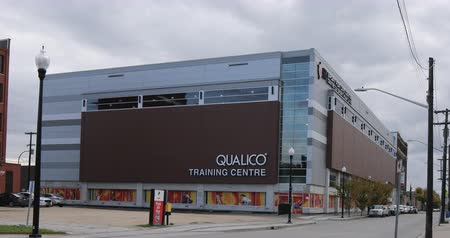 Qualico Training Centre in Winnipeg, Canada 4K Stok Video