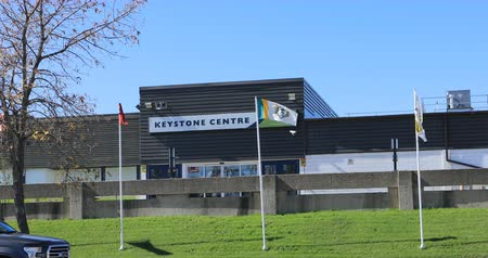 국가 랜드 마크 : Keystone Centre in Brandon, Manitoba 4K. Home to the Brandon Wheat Kings