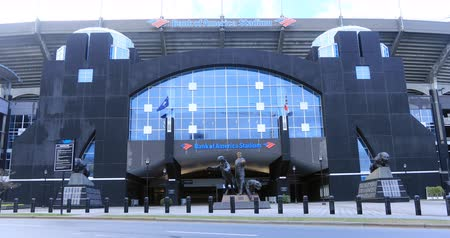 западный : Bank of America Stadium view in Charlotte, North Carolina 4K