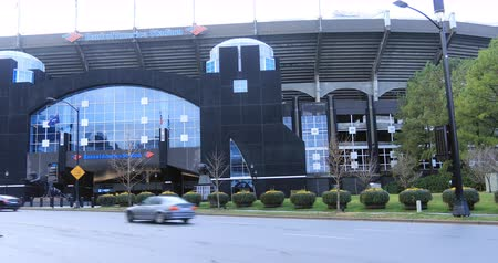 futball labda : Scene of Bank of America Stadium in Charlotte, North Carolina 4K