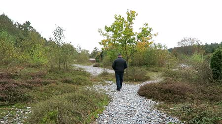 espécime : New Mukran, Mecklenburg-Vorpommern  Germany 17 October 2016: People walking along at the flint stone field of New Mukran (Rugen island), Germany. Feuerstein field. Vídeos