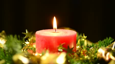 jovial : Candle on advent wreath