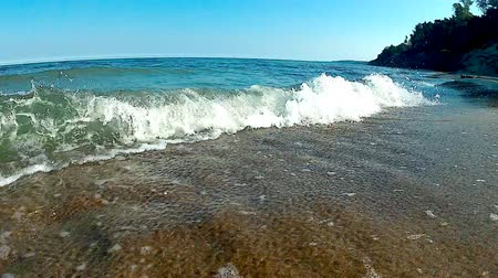geniş açılı : Surf of the Baltic Sea in Poland