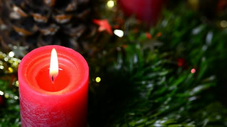 feixes : Advent wreath with burning candles