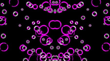 leylak : Dancing violet bubbles on a black background Stok Video