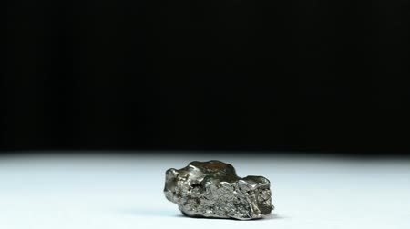 nikel : Meteorite from Argentina on a turn table