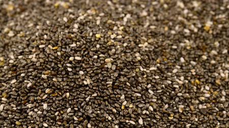 roman : Chia seeds, heap on a turn table