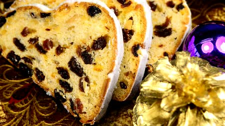 speciality : German Christmas stollen on turn table