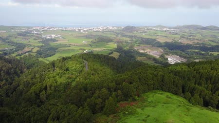 sao miguel : Empty roads in the countryside on the island of Saint Michael (Sao Miguel) in the Azores, Portugal Stock Footage