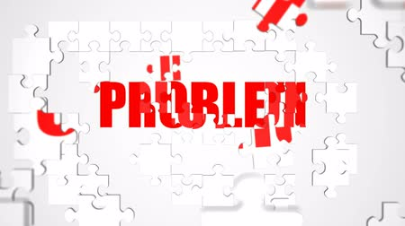 jigsaw : Solution Jigsaw Puzzle Animation Stock Footage