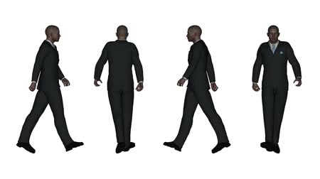 walking man : Walking Business Man Stock Footage