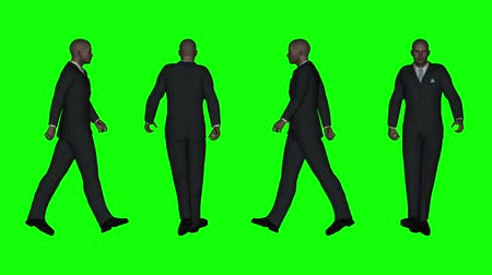 walking man : Walking Business Man (Green Screen) Stock Footage
