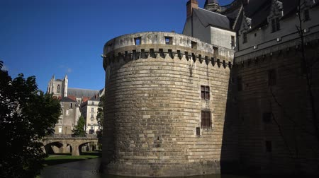 grã bretanha : the Chateau Des Ducs de Bretagne or the Castle of the Dukes of Brittany, Fortified wall of castle