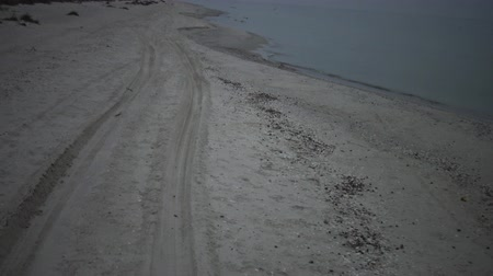 donuk : Fast driving by car along the sand along the beach along the sea, Black Sea, Ukraine