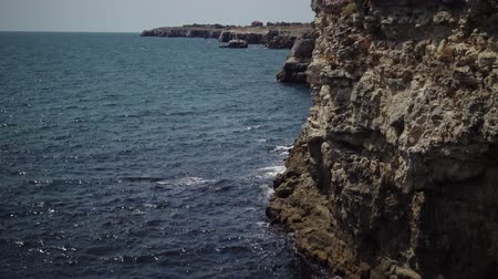 sea port : Rocky coast on the Black Sea, Bulgaria, Tyulenovo
