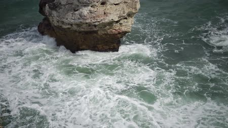 bulgary : Storm at the rocky shore on the Black Sea, Bulgaria Stock Footage