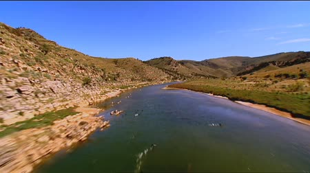 marys : Aerial footage of rugged out back Australian mountain ranges, creeks, peaks, desert and Mallee areas. Flinders Ranges Area, featuring Wilpena Pound, Arkaroola, St Marys Peak and outback creek beds Stock Footage