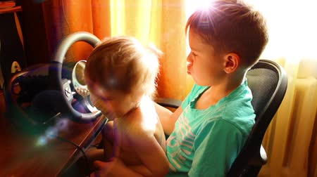 сбор : Children playing a computer game