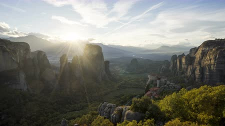 evangelical : timelapse Meteora monasteries in Greece