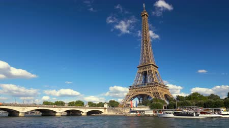 eifel : Eiffel tower, Paris. France Stock Footage