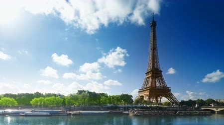 eiffel : Eiffel tower, Paris. France Stock Footage