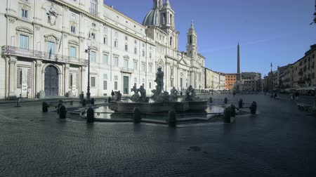 bernini : Piazza Navona, Rome, Italy Stock Footage