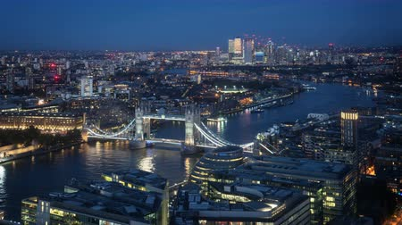 wielka brytania : time lapse London skyline with sunset