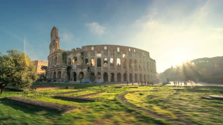 roma : Hyper lapse, Coliseo, Roma, Italia Archivo de Video