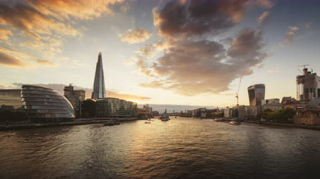londýn : time lapse of sunset, London skyline, UK Dostupné videozáznamy