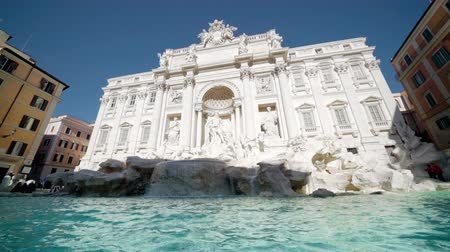 bernini : Fountain di Trevi in Rome, Italy Stock Footage