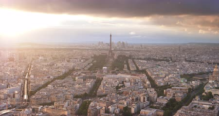champ : Paris from high point and tower of Eifel, France