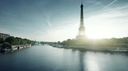 eifel : hyper lapse Eiffel tower, Paris. France Stock Footage