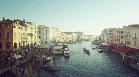 Венеция : Grand Canal in sunset time from Rialto Bridge, Venice, Italy