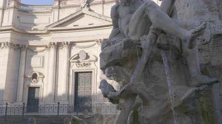 nettuno : Statue of Zeus in Berninis fountain of Four Rivers in Piazza Navona, Rome