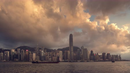 czas : Hong Kong sunset, time lapse