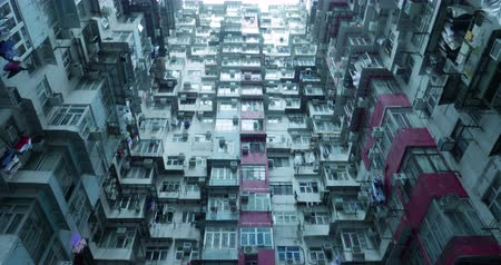 Residential buildings in Hong Kong, China Vídeos