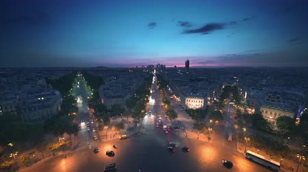 бульвар : Paris view from Arc de Trimphe, France
