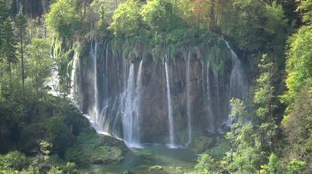 plitvice : Waterfall in forest, Plitvice, Croatia Stock Footage