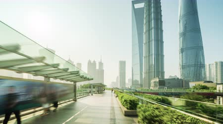 pudong : hyper lapse, Pudong financial district Shanghai, China