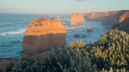 campbell : Twelve Apostles, sunrise time, Australia Stock Footage