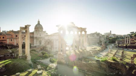 archaeological : Roman Forum in Rome, Italy