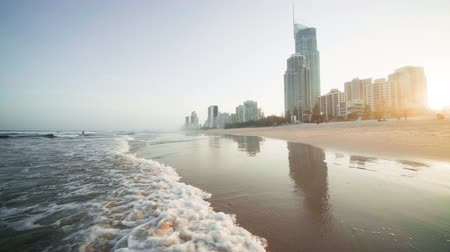 Surfers Paradise at sunset, Gold Coast, Australia