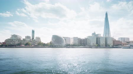 London cityscape with business building and city hall , UK
