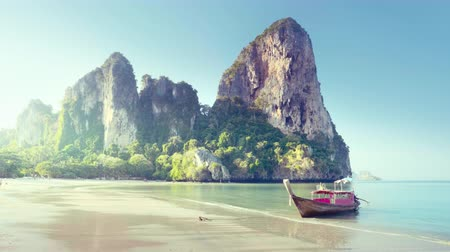 boats at railay beach, Krabi, Thailand