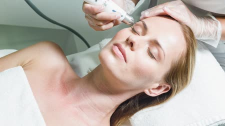 Sensual lady enjoying rejuvenation and hydration therapy