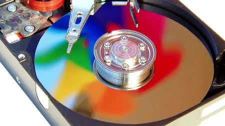 kurtarma : Colors of data in Hard Disk Drive; HDD spin simulation